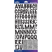 Black Marker Medium - Sticko Alphabet Stickers