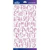 Pink Glitter Script Small - Sticko Alphabet Stickers