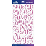 Pink Glitter Script Small - Sticko Alphabet Stickers