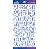 Blue Glitter Script Small - Sticko Alphabet Stickers