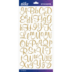 Gold Glitter Script Small - Sticko Alphabet Stickers