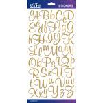 Gold Glitter Script Small - Sticko Alphabet Stickers
