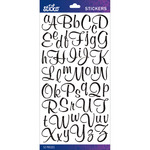 Black Glitter Script Small - Sticko Alphabet Stickers