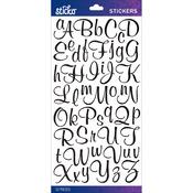 Black Glitter Script Small - Sticko Alphabet Stickers