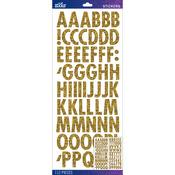 Gold Futura Regular Glitter - Sticko Alphabet Stickers