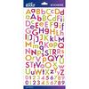 Bright Multi Glitter Combo Small - Sticko Alphabet Stickers