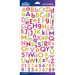 Bright Multi Glitter Combo Small - Sticko Alphabet Stickers