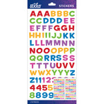 Multi Metallic Funhouse Small - Sticko Alphabet Stickers