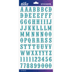 Teal Glitter Carnival Small - Sticko Alphabet Stickers