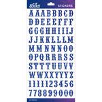 Blue Glitter Carnival Small - Sticko Alphabet Stickers