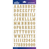 Gold Glitter Carnival Small - Sticko Alphabet Stickers
