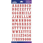 Red Glitter Carnival Small - Sticko Alphabet Stickers