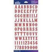 Red Glitter Carnival Small - Sticko Alphabet Stickers