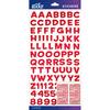 Red Metallic Funhouse Small - Sticko Alphabet Stickers