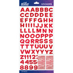 Red Metallic Funhouse Small - Sticko Alphabet Stickers