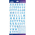 Blue Brush Small Sticko Alphabet Stickers