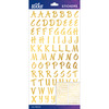 Gold Foil Brush Small Sticko Alphabet Stickers
