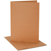 "Kraft - A2 Cards & Envelopes (4.25""X5.5"") 25/Pkg"