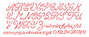 "Script Alphabet 5.25""X13"" - Stencil Magic Decorative Stencils"