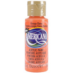 Orange Flame - Opaque - Americana Acrylic Paint 2oz