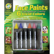 Vivid - Face Paint Jumbo Crayons 6/Pkg