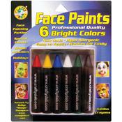 Bright - Face Paint Jumbo Crayons 6/Pkg