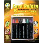 Pearl - Face Paint Jumbo Crayons 6/Pkg