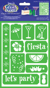 "Party Time - Americana Gloss Enamel Stencils 8""X6"""