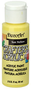 Sun Yellow - Crafter's Acrylic All-Purpose Paint 2oz