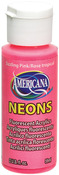 Sizzling Pink - Americana Neons Fluorescent Acrylic Paint 2oz