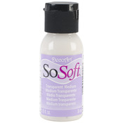 Transparent - SoSoft Fabric Acrylic Paint Medium 1oz