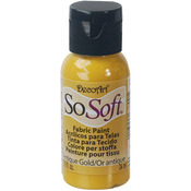 Antique Gold - SoSoft Fabric Acrylic Paint 1oz