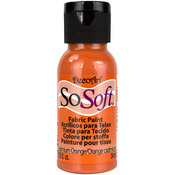 Cadmium Orange - SoSoft Fabric Acrylic Paint 1oz