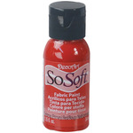 Christmas Red - SoSoft Fabric Acrylic Paint 1oz
