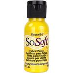Primary Yellow - SoSoft Fabric Acrylic Paint 1oz
