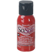 Santa Red - SoSoft Fabric Acrylic Paint 1oz