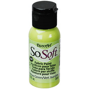 Yellow Green - SoSoft Fabric Acrylic Paint 1oz