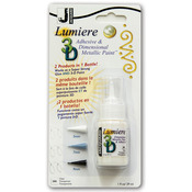 Clear - Jacquard Lumiere 3D Metallic Paint & Adhesive 1oz