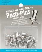 """Aluminum - Push-Pins .375"""" 20/Pkg"""