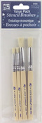 2 Each Of Sizes 1 & 5 - Bristle Stencil Brush Set 4/Pkg
