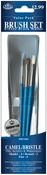 3/Pkg - Camel/Bristle Value Pack Brush Set