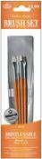 4/Pkg - Bristle/Sable Value Pack Brush Set