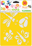 "Flowers - Stencil Mania Stencils 7""X10"" 3/Pkg"