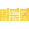 """Fonts 1"""" - Stencil Mania Stencils 7""""X10"""" 3/Pkg"""
