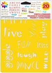 "Fonts & Phrases - Stencil Mania Stencils 7""X10"" 3/Pkg"