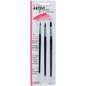 3/Pkg - Red Sable Artist Brush Set