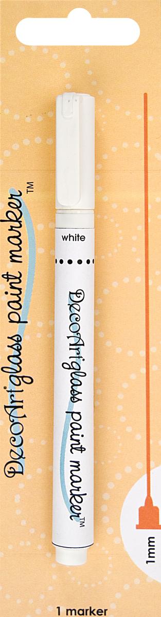White - DecoArt Glass Paint Marker 1mm