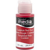 Cadmium Red (Series 3) - Media Fluid Acrylic Paint 1oz