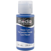 Primary Cyan (Series 2) - Media Fluid Acrylic Paint 1oz