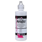 Metallics - White - Tulip Dimensional Fabric Paint 4oz